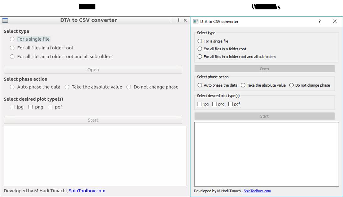 SpinToolbox | DTA to CSV converter